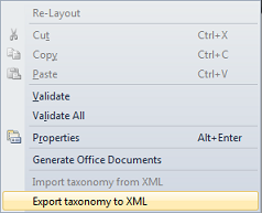 Export to XML to target Sharepoint